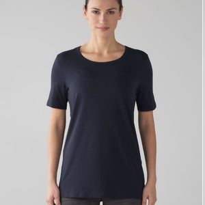 Lululemon Love Crew Navy Tee T Shirt Top Large L
